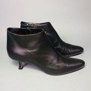 Authentic Manolo Blahnik Leather Ankle Boots
